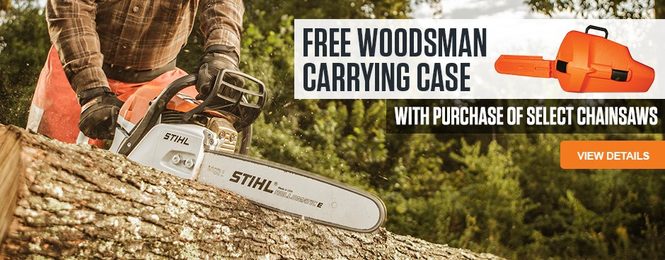 Free Woodsman Carrying Case!